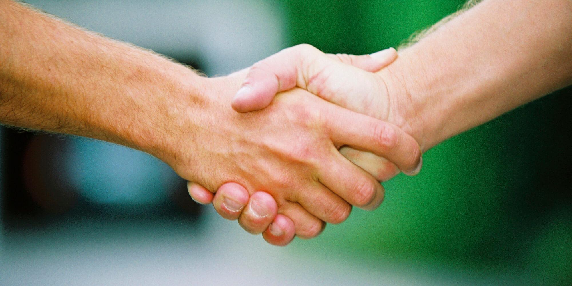 Wir setzen auf Handschlagqualität